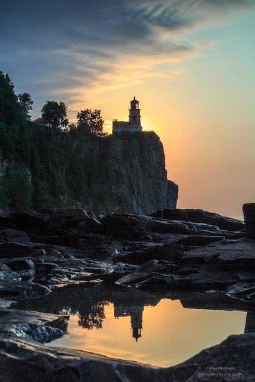 Sunrise Tuesday at Split Rock by Jim Sochko.