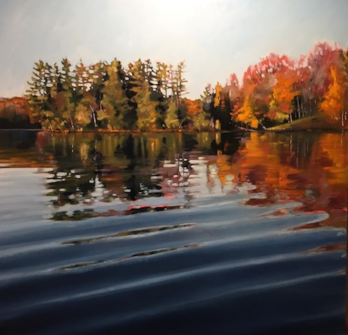 """Water Reflection #1"" by Reid Thorpe is at the Johnson Heritage Post."