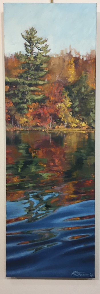 """Water Reflection #4"" by Reid Thorpe is at the Johnson Heritage Post."