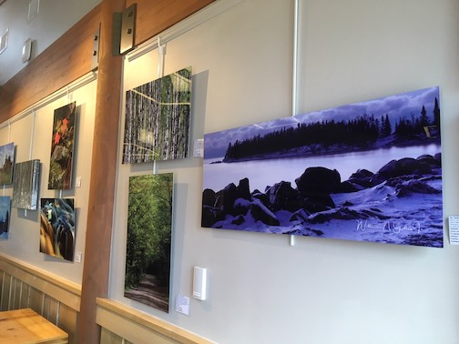 William Gillis is exhibiting his work at Tettegouche State Park the month.
