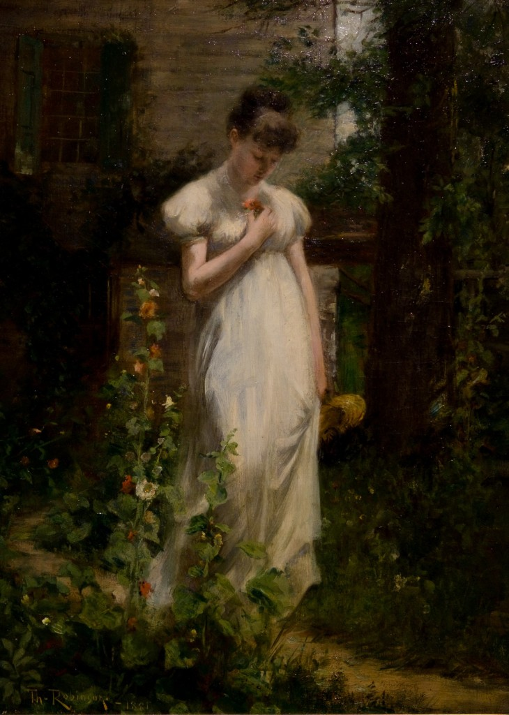 """Flower of Memory"" by Theodore Robinson, 1881, is in the exhibit ""Quiet Simplicity"" at the Tweed Museum of Art."