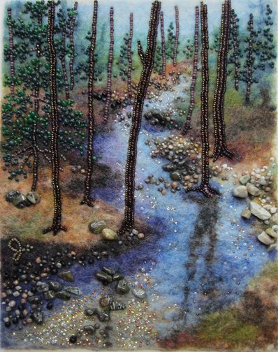 """Meandering,"" bead art by Jo Wood, who is one of the artists participating in the Fall Art Tour."
