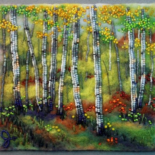 Beadpainter Jo Wood will have new work at the Fall Studio Tour.