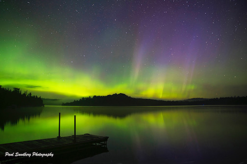 Aurora, Caribou Lake by Paul Sandberg.
