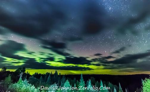 Northern lights by David Johnson.