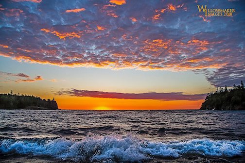 A pretty sunrise at Split Rock by Jamie Rabold.
