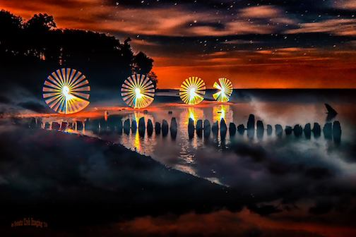 Painting with light by Jamie Rabold.