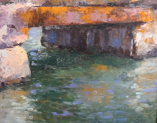 """Perils of Time"" by Mary Ann Cleary is one of the paintings at the Johnson Heritage Post ""Grand Marais Plein Air"" exhibit."