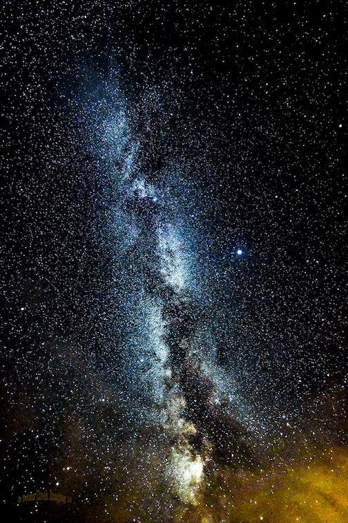 Milky Way & Mars by Kirk Schleife.