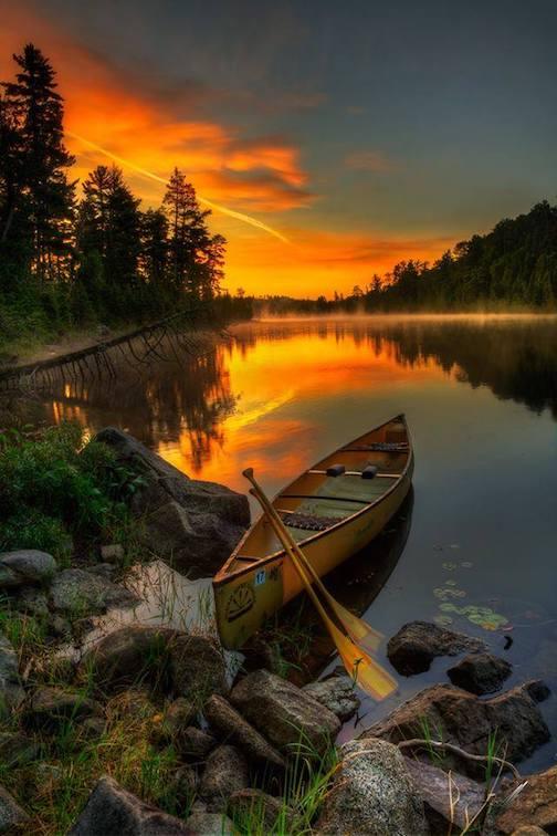 Boundary Waters sunset by Matt Herberg.