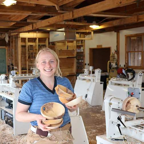 Jess Hirsch is the instructor-in-residence at North House Folk School this weekend.