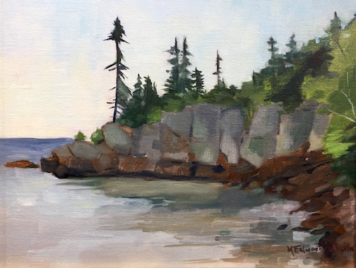 """Red Cliff"" by Marge Brackin won the Plein Air Open Class award."