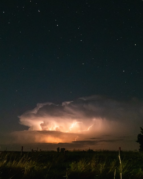 The Big Dipper and a Thunderstorm by Ryan Wystepek.