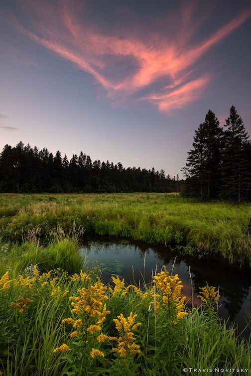 September Sunset--Hollow Rock Creek by Travis Novitsky.
