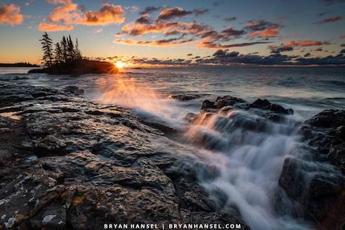 North Shore sunrise by Bryan Hansel.