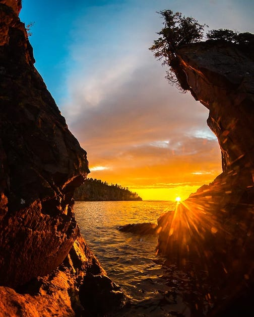 Sunrise at Tettegouche by Christian Dalbec.