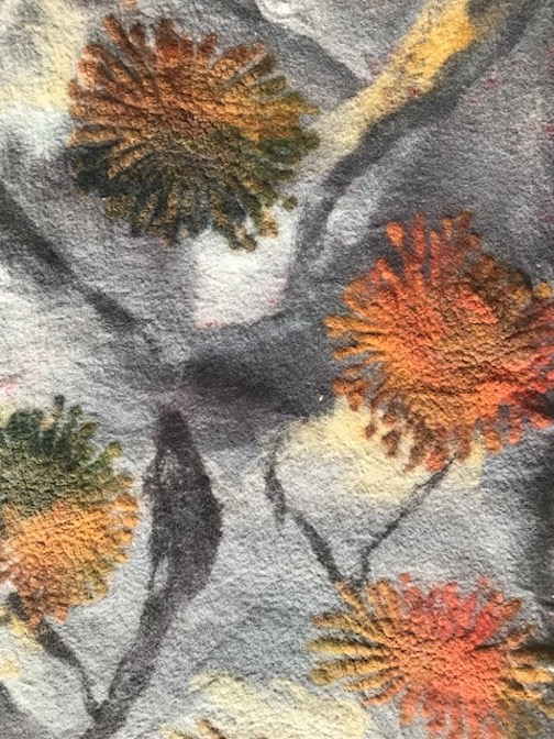 "Felted piece by Elise Kylo. It and others will be featured in her exhibit, ""Listening to Lichen"" which opens Nov. 9 at the Johnson Heritage Post."