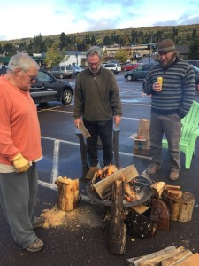 A fire pit is the newest addition to the Cook County Market, which is held from 9 a.m. to 1 p.m. on Saturdays in the Senior Center parking lot through MEA weekend, weather permitting.