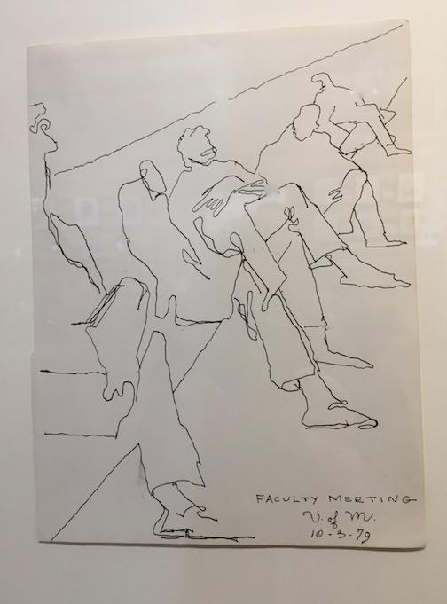 """""""Faculty Meeting, U of M, 1979"""" by George Morrison."""