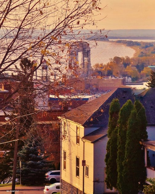City Scape: Autumn in Duluth by Jan Swart.