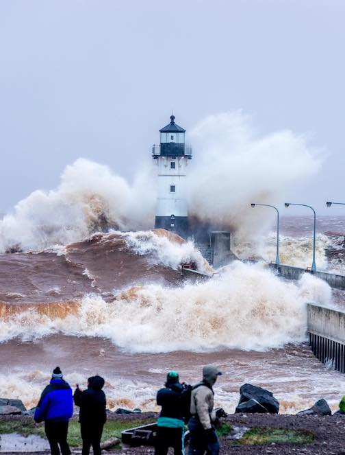 """Explosion"" by Jeffrey Doty. Photo taken during the ferocious wind storm in Duluth on Wednesday. To see more of his work, visit https://jeffrey-doty.pixels.com or see his Facebook page at Jeffrey Doty Photography."