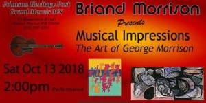 "Briand Morrison's video, Musical Impressions: The Art of George Morrison"" will be screened at 2 p.m. on Saturday at the Johnson Heritage Post."