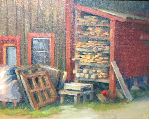 Scraps are Good by Matt Kania is one of the paintings at the Grand Marais Plein Air 2018 currently on exhibit at the Johnson Heritage Post.
