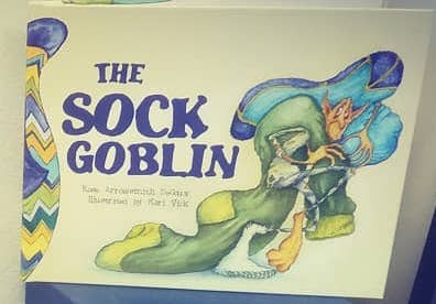 """The Sock Goblin,"" a children's book by Rose Arrowsmith DeCoux with illustrations by Kari Vick, is just out and is available at Drury Lane Books. You can also find it next to the socks at The Big Lake."