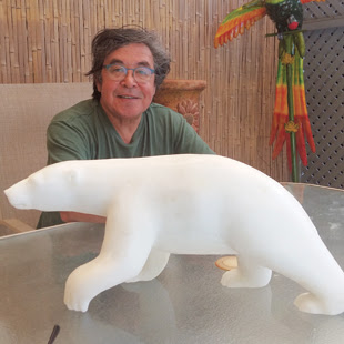 Inuit stone carver Bill-Nasogaluak, will give carving demonstrations at North House Folk School on Friday from 2-4 p.m. He will also be at Sivertson Gallery all day Saturday and will participate in the Fireside Chat on Saturday night.