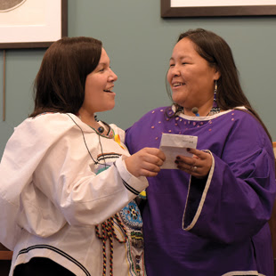 Inuit throat-singers Nina Segalowitz & Taqralik Partridge, return to Grand Marais for the Inuit Premiere. They will perform at 3 p.m. on Friday at North House Folk School and at 1 and 3 p.m. Saturday at Sivertson Gallery.
