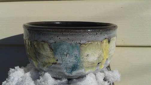 Bowl by Joanne Kelly. She is one of the potters who will be exhibiting at the annual Thunder Bay Potters Guild Sale this weekend.
