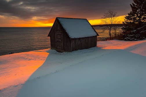 That little shack at Sunset by Christian Dalbec.