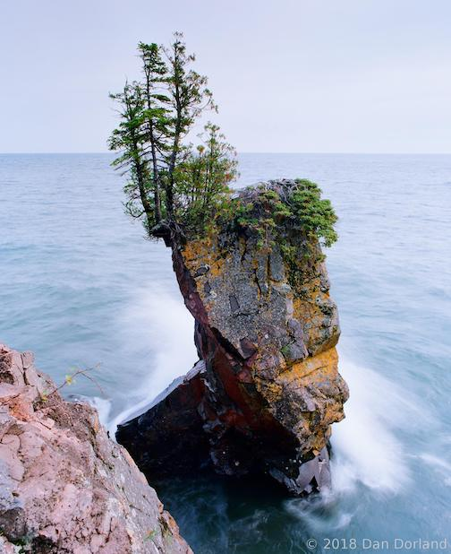 Lake. Superior Sea Stack by Dan Dorland.