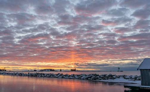 Sunrise at Grand Marais by David Johnson.
