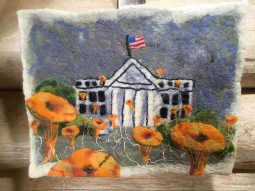 One of Elise Kyllo's felted pieces on view at the Johnson Heritage Post.