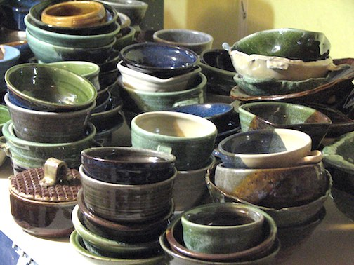 A few of the bowls that will be at the Empty Bowls Fundraiser Nov. 15.