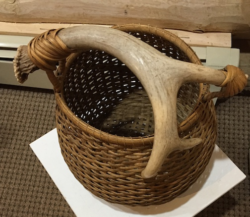 An antler basket by
