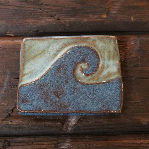 Wave tile by Melissa Wickwire.