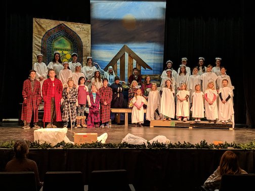 "The cast of ""The Best Christmas Pageant Ever."" More than 40 community members, including students, are in the play, which opens on Friday at 7 p.m. Performances are at 5 p.m. on Saturday and 1:30 and 4:30 p.m. on Sunday."