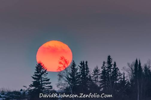Fireball sunset by David Johnson.
