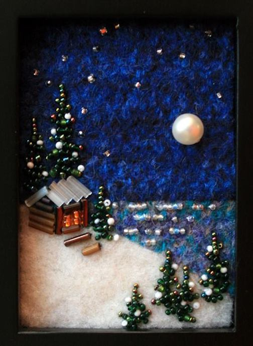Jo Wood will have her bead painting pieces at the Spotlight sale next Wednesday.