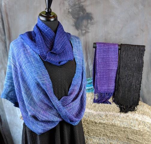 Julie Arthur will be showing her weaving at the Spotlight sale.