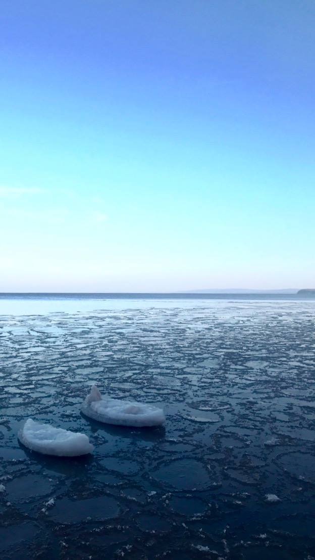Ice on the lake by Mike Wiggins, Jr.