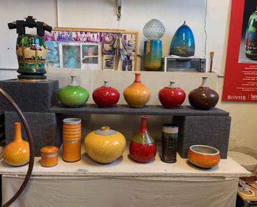 Raku potters Richard Gruchalla and Carrin Rosetti will hold their annual Christmas sale in their studio in Duluth this weekend.