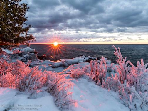 A frozen sunrise by Tischer Photography.