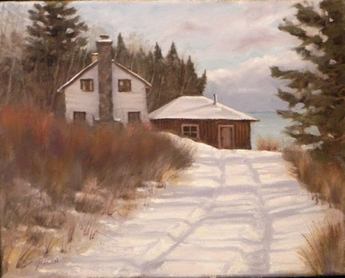"""Fisherman's Home"" by Gary Olson, is one of the paintings to be exhibited at Tettegouche State Park this month."
