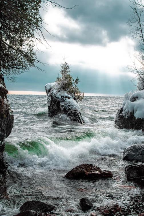 Lake Superior sure made me feel like I was on Gilligan's Island yesterday. Photo by Kayla Donnelle.