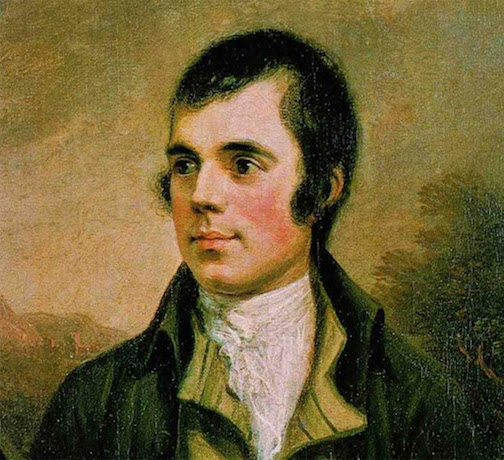 The Scottish poet Robert Burns will be honored Jan. 26 at the Wunderbar.