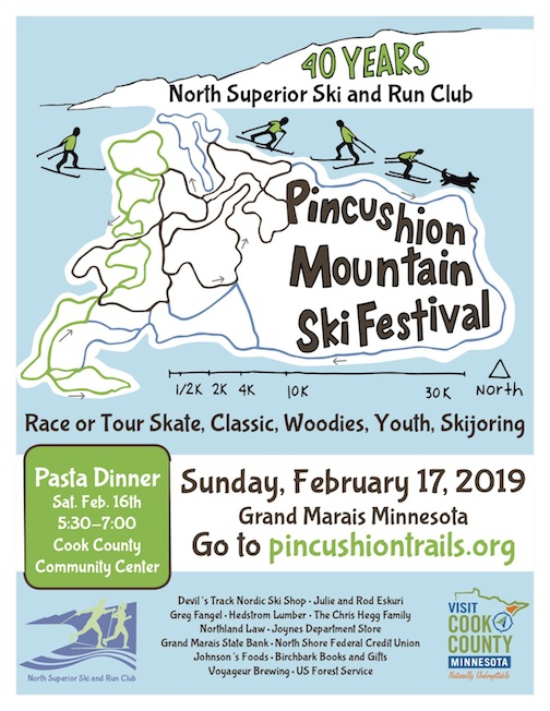 The Pincushion Mountain Ski Festival is all day Sunday.