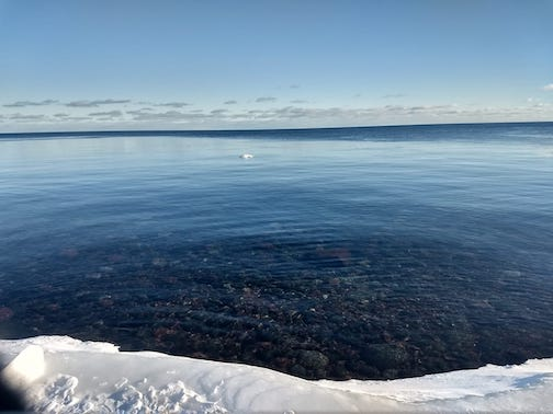 Lake Superior is (briefly) liquid again by Chelsea Pucs.